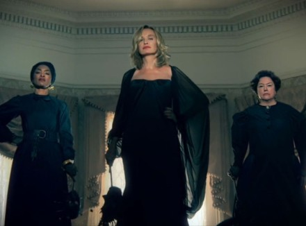 http://www.eonline.com/news/457168/american-horror-story-coven-promo-first-look-at-kathy-bates-jessica-lange-and-the-class-of-witches